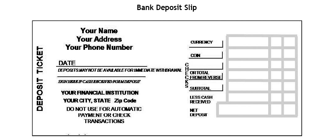 Digital literacy ms mcgrews classroom follow these steps to ensure you correctly complete your deposit slip if you are putting money in the bank you definitely want to be sure it goes in your ccuart Choice Image